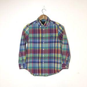 RALPH LAUREN Multicolor Chekered Button Down Shirt